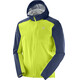 Salomon Bonatti WP Jacket Men acid lime/dress blue